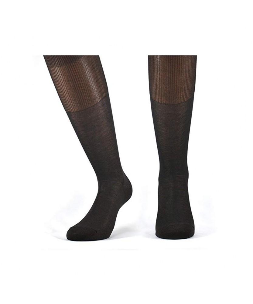 12-paia-di-calze-UOMO-lunghe-in-100-Cotone-Filo-di-Scozia-12-600FDS miniature 5