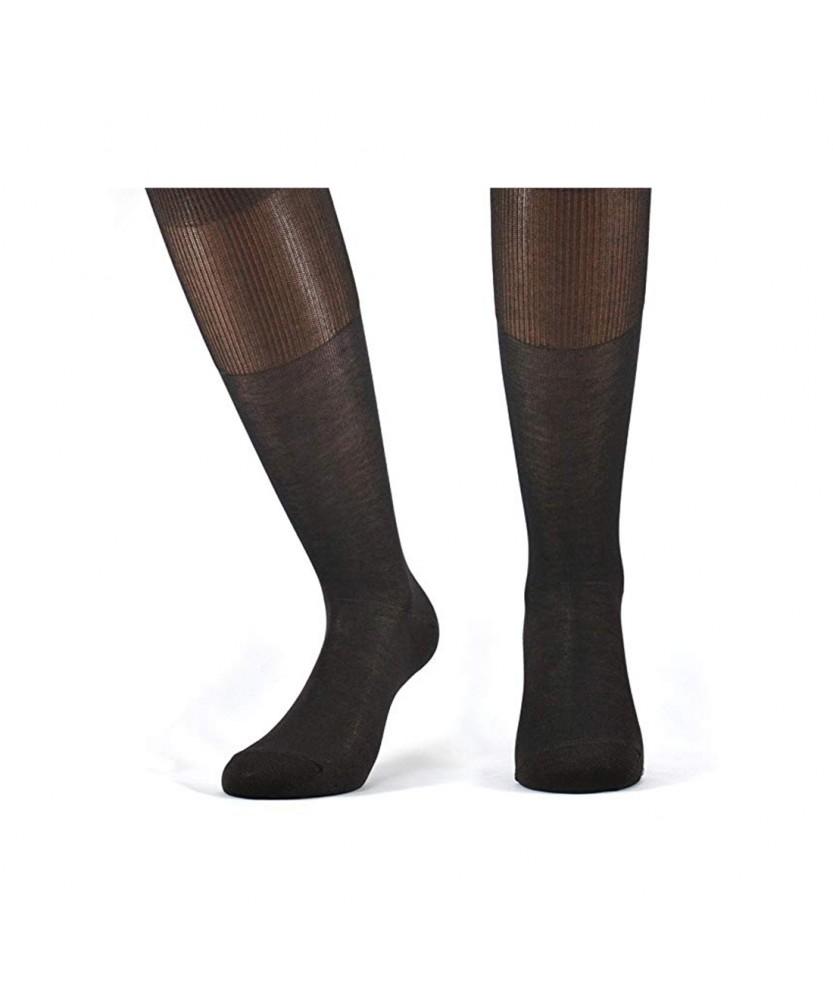 12-paia-di-calze-UOMO-lunghe-in-100-Cotone-Filo-di-Scozia-12-600FDS miniature 7